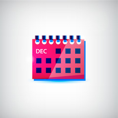 Vector colorful calendar flat icon
