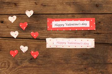 Polka dot hearts Valentines day card