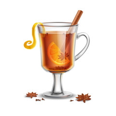 Grog. Hot rum drink with spices