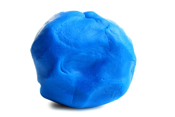 blue clay for kids isolated on white background Fototapete