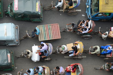 Traffic in Dhaka, Bangladesh
