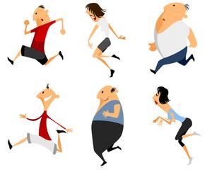 Six running man