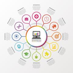 Infographic design template. Modern business concept. Vector illustration