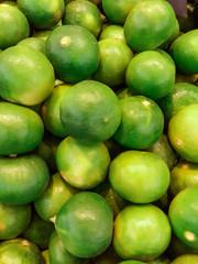 Fresh juicy limes, green lemon