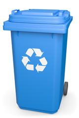 Mülltonne recycling geschlossen