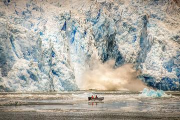 Glaciers and iceberg nature landscape in south America