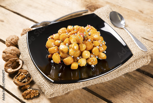 "Struffoli Christmas cake typical Neapolitan"" Stock photo and royalty ..."