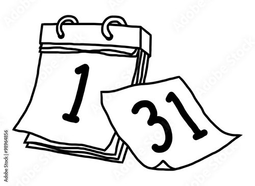 Calendar Drawing Cartoon : Quot newyear calendar cartoon vector and illustration black