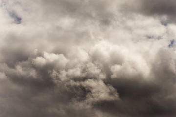 Dark cloud for global warming concept