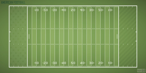 Field for game in the American football