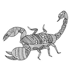 Doodle Scorpion illustration
