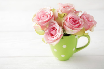 flowers. pink roses