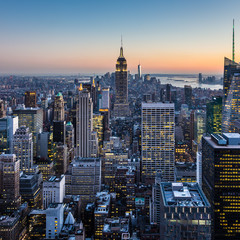 Wall Mural - New York City Manhattan downtown skyline.