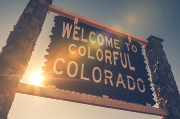 Welcome in Colorado Sign Wall mural