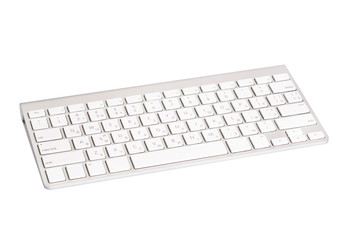 Computer keyboard. Isolated on white