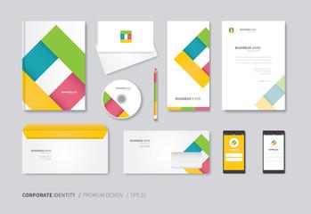 modern stationery design template