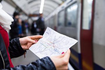 Subway map of metro lines