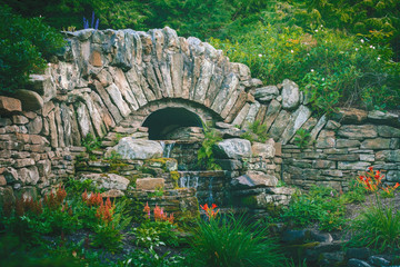 Stone Bridge Garden Waterfall