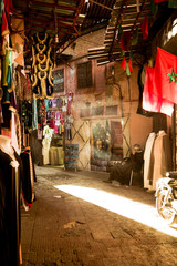 MARRAKECH, MOROCCO - 24 February 2015: market in Marrakech with