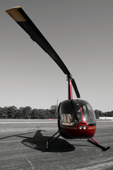 R44 Helicopter on Tarmac