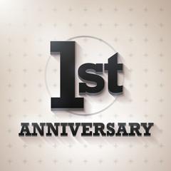 1st Anniversary 3D black