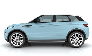 Light blue Range rover