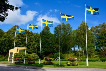 Schwedische Flaggen in Ed
