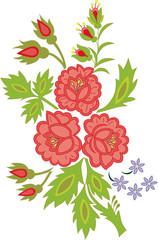 Róże i niezapominajki