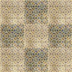Fotomurales - Background collage. Ceramic tile, museum Azulejo, Lisbon