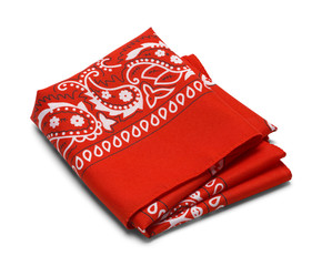 Red Folded Hankerchief