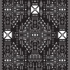Ethnic geometrical pattern, tribal seamless background