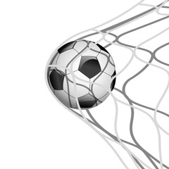 Soccer ball in net.Vector