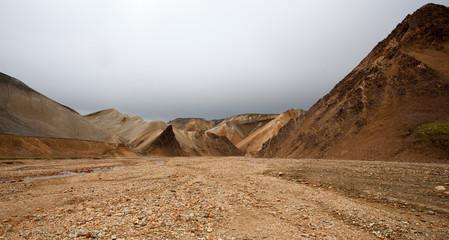 Foto op Plexiglas Droogte Paesaggio in Islanda, deserto di pietre e sassi