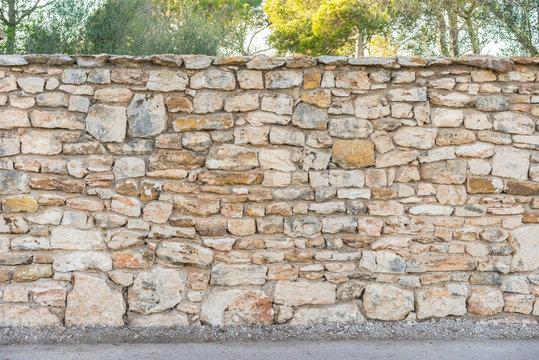 Garten Mauer Zaun Steine