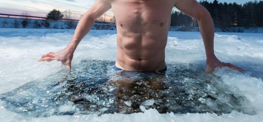 Ice hole swimming