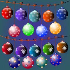 20 Christmas balls