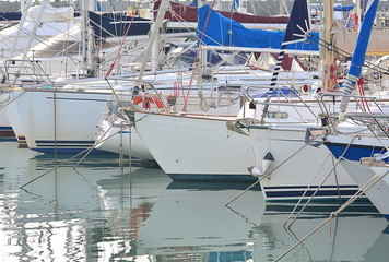 On the port and the yachts