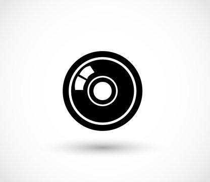 Lens icon vector
