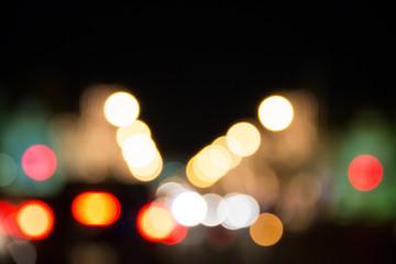 Abstract bokeh lights.