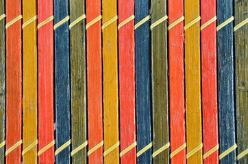 Kolorowe sztachetki