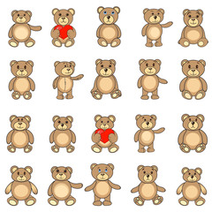 the collection bears in EPS vector