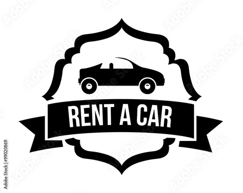 Rent a car design stock image and royalty free vector for Car rental logo samples