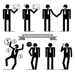 Business people icon set