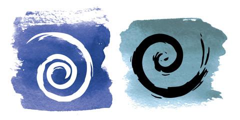 spirale acquerello