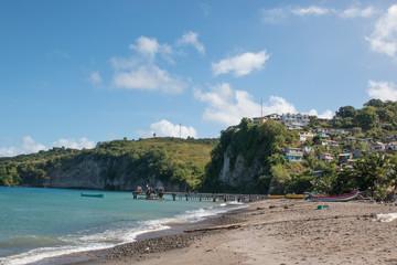 Plage à Sainte-Lucie Caraïbes