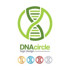 DNA Logo-Infinity Design Logo Vector For DNA