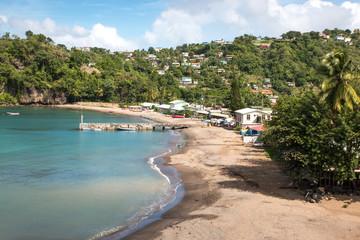 Plage à Sainte Lucie, Caraïbes