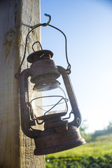 Rustic kerosene lamp