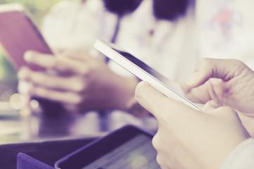 communication technology,People Using a Smart Phone background