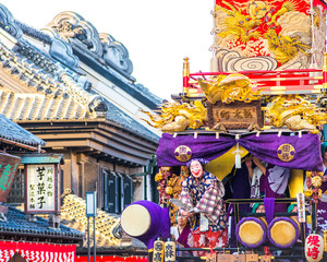 japanese general festival,kawagoe area,saitama,japan